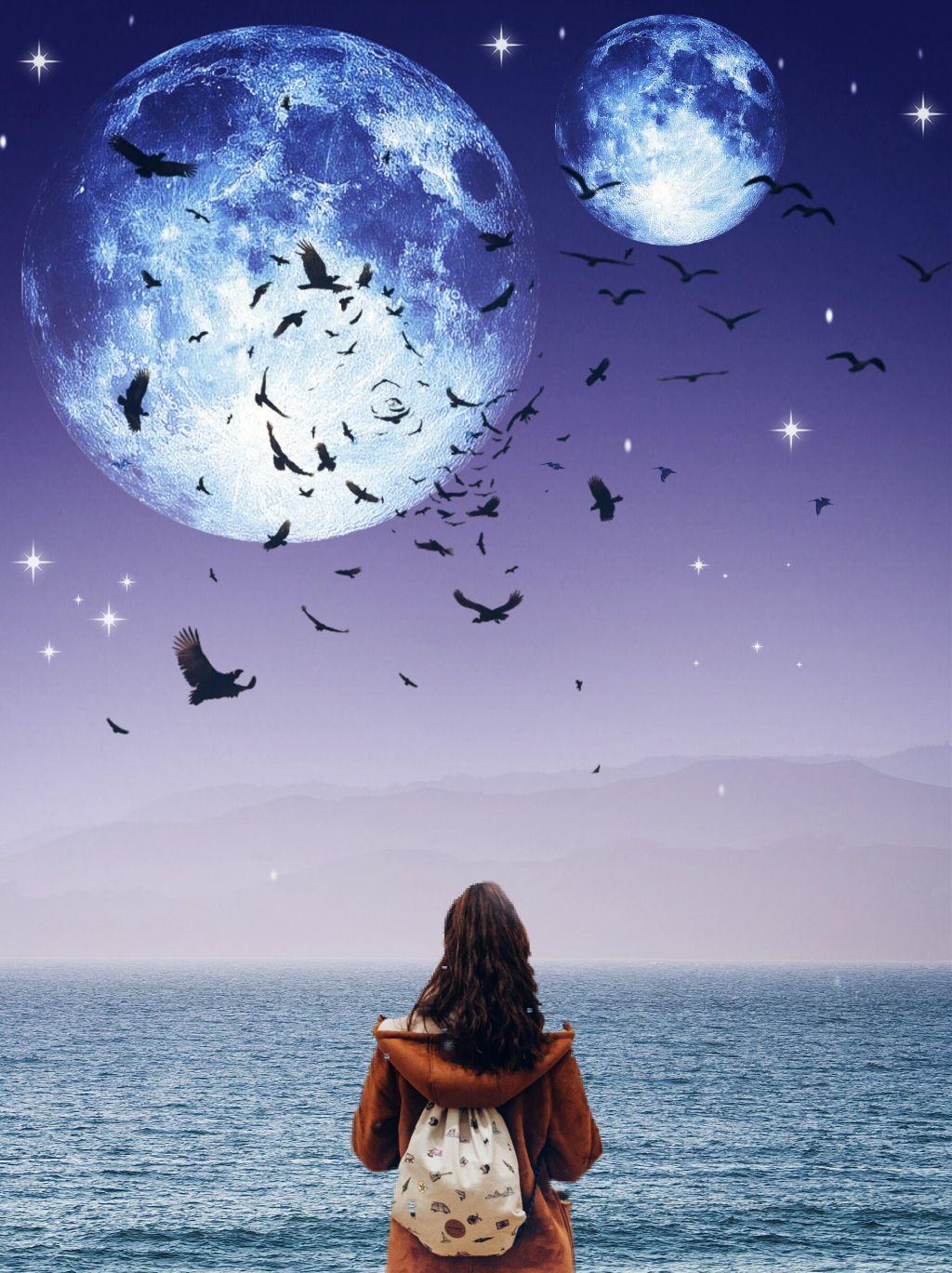 #freetoedit #myedit #moon #girl #remixit #madebyme #madewithpicsart #picsartmylife #freedom #dreams