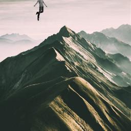 freetoedit man flying top sky