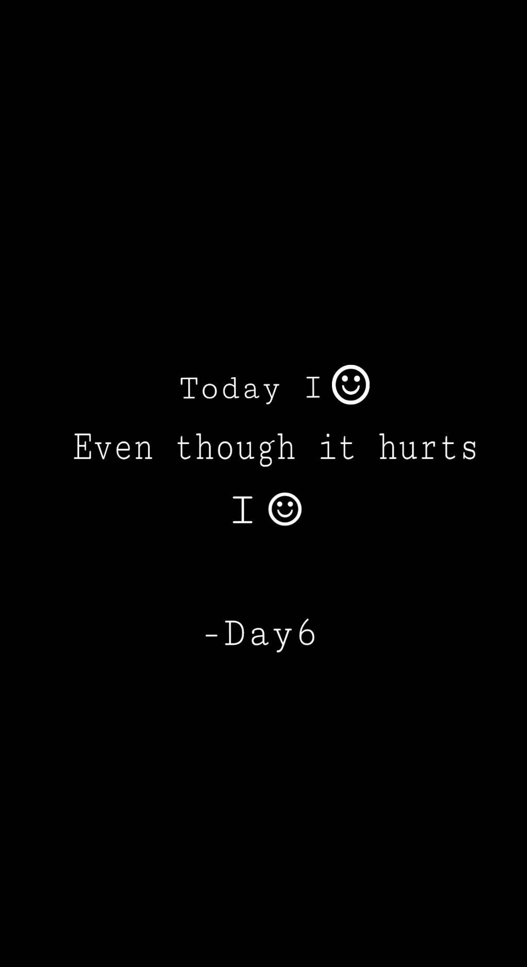 Day6 Kpop Phrases Sad Smile Wallpaper Hurt