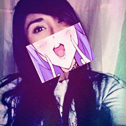 freetoedit animegirl mangaselfie