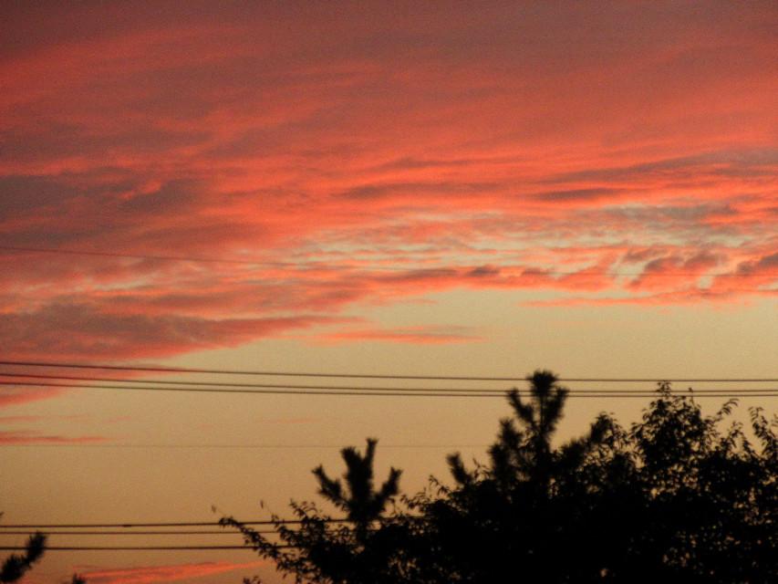 붉은 구름과 노을 #red #sunset #cloud #sky