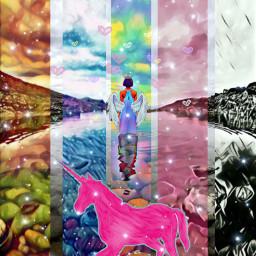 freetoedit unicorn unicornio🌈 princes colors ircreflectionsofwater