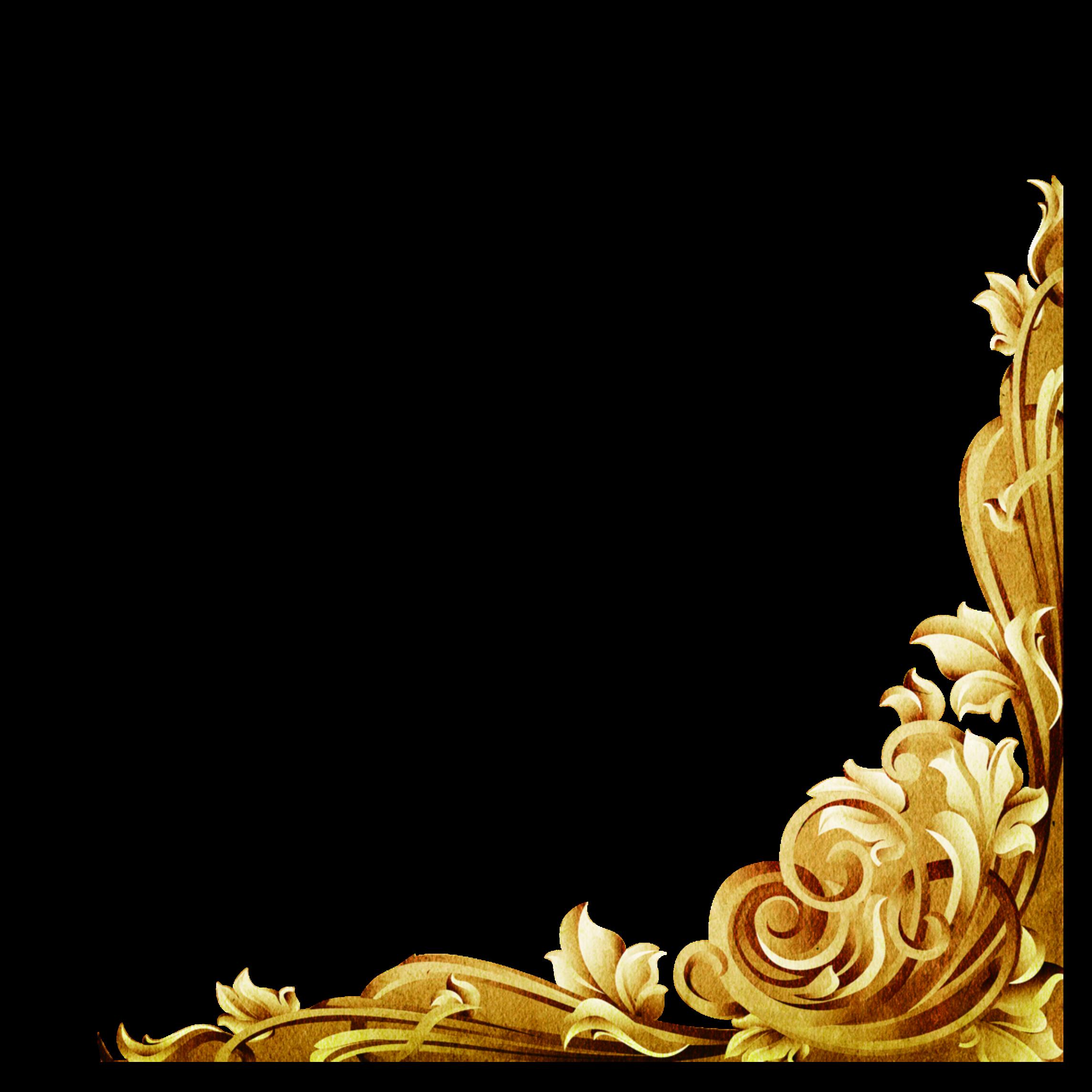 mq gold border borders - Sticker by Marras