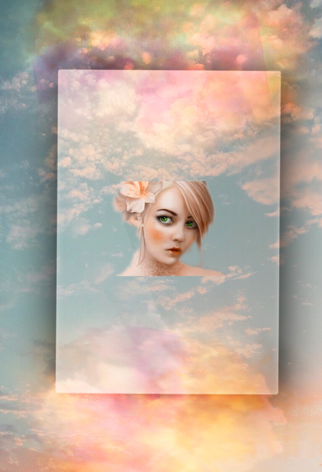 #freetoedit #woman #sky #clouds #dreamy #surreal #fantasyart #3deffect #blending #stickers #adjusttools #myedit #madewithpicsart