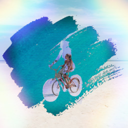freetoedit girl girlonbike squiggle rainbow again