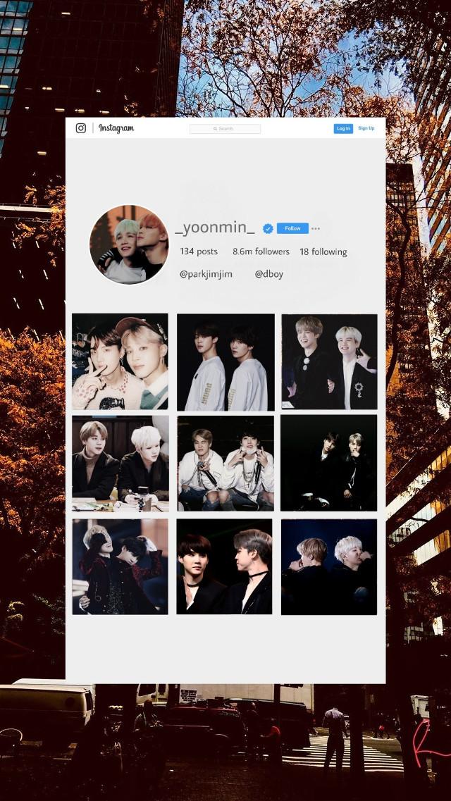 if yoonmin had their own Instagram         #freetoedit  #bts #yoonmin #suga #jimin #instagram #kpopedit #yoongi #btsedit