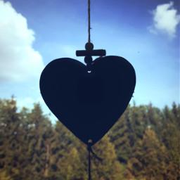 freetoedit sky forest heart heartshape