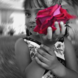 blackandwhite phoyography portrait girl rose