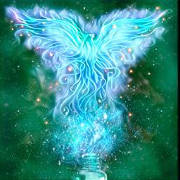freetoedit fenix magic ircgreenglassbottle greenglassbottle