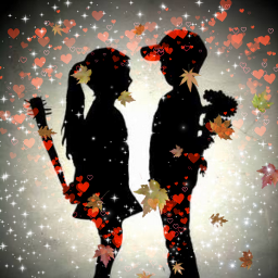 freetoedit trueloveneverends autumnlove chidren srcfallingleaves