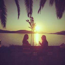 sea palmatree friendsforever friendshipgoals friendshipismagic