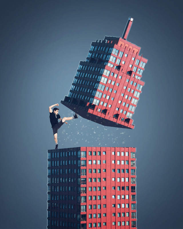 Enjoy your weekend😎 image from @freetoedit @janoskians  #drawtools #layers #building #cutouttool #skyscraper #myedit #editstepbystep