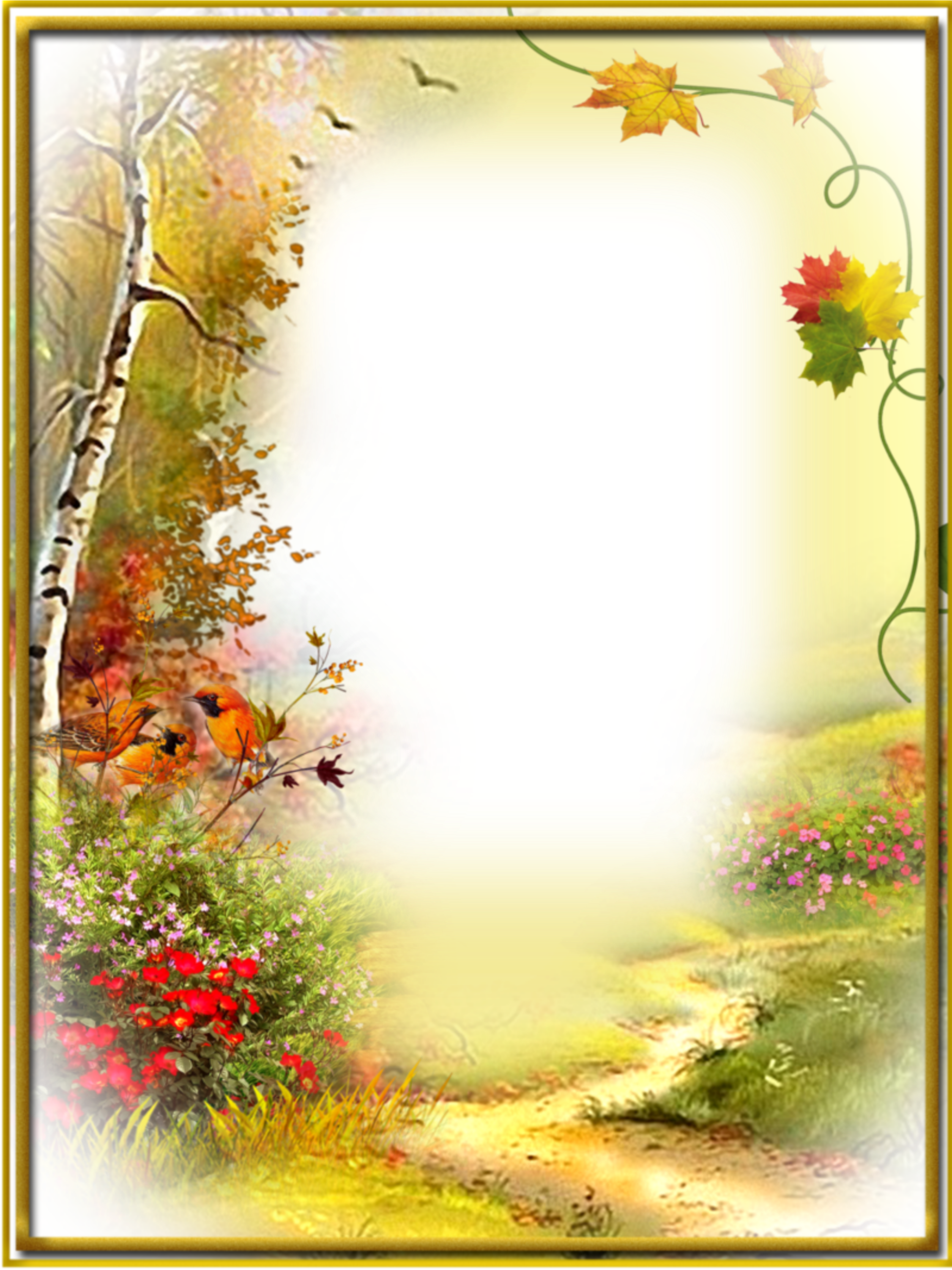 Ftestickers Background Borders Autumn Fall
