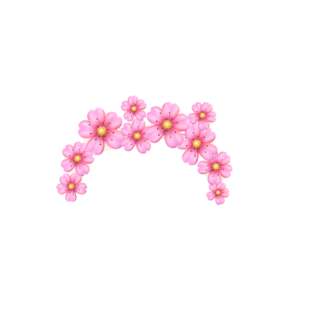 Pink Flower Crown Emoji Pinkfloweremojicrown Remixit