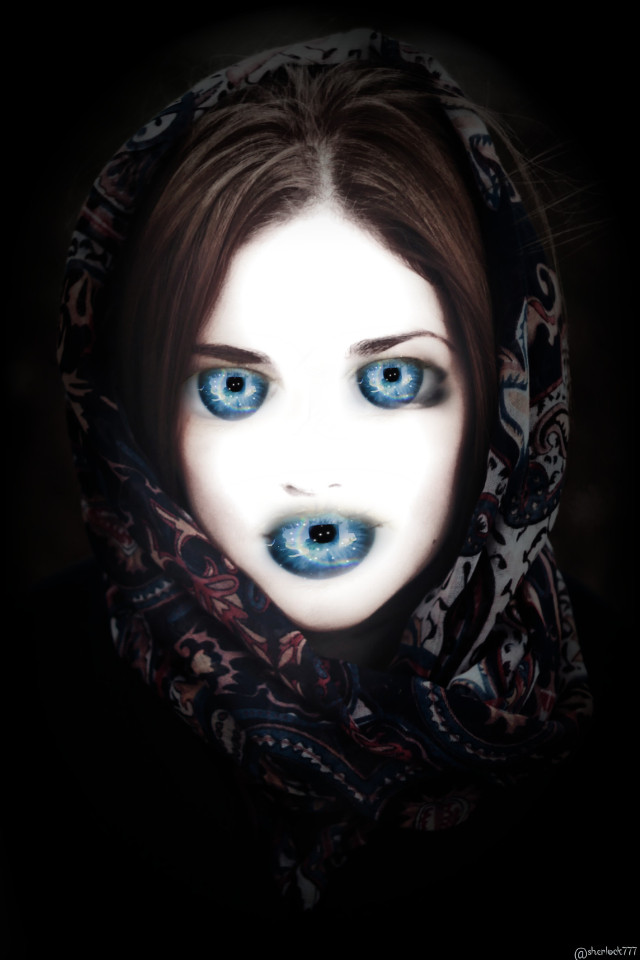 #freetoedit #girl #surreal #creepy  Thank you for the fte and the sticker 💌