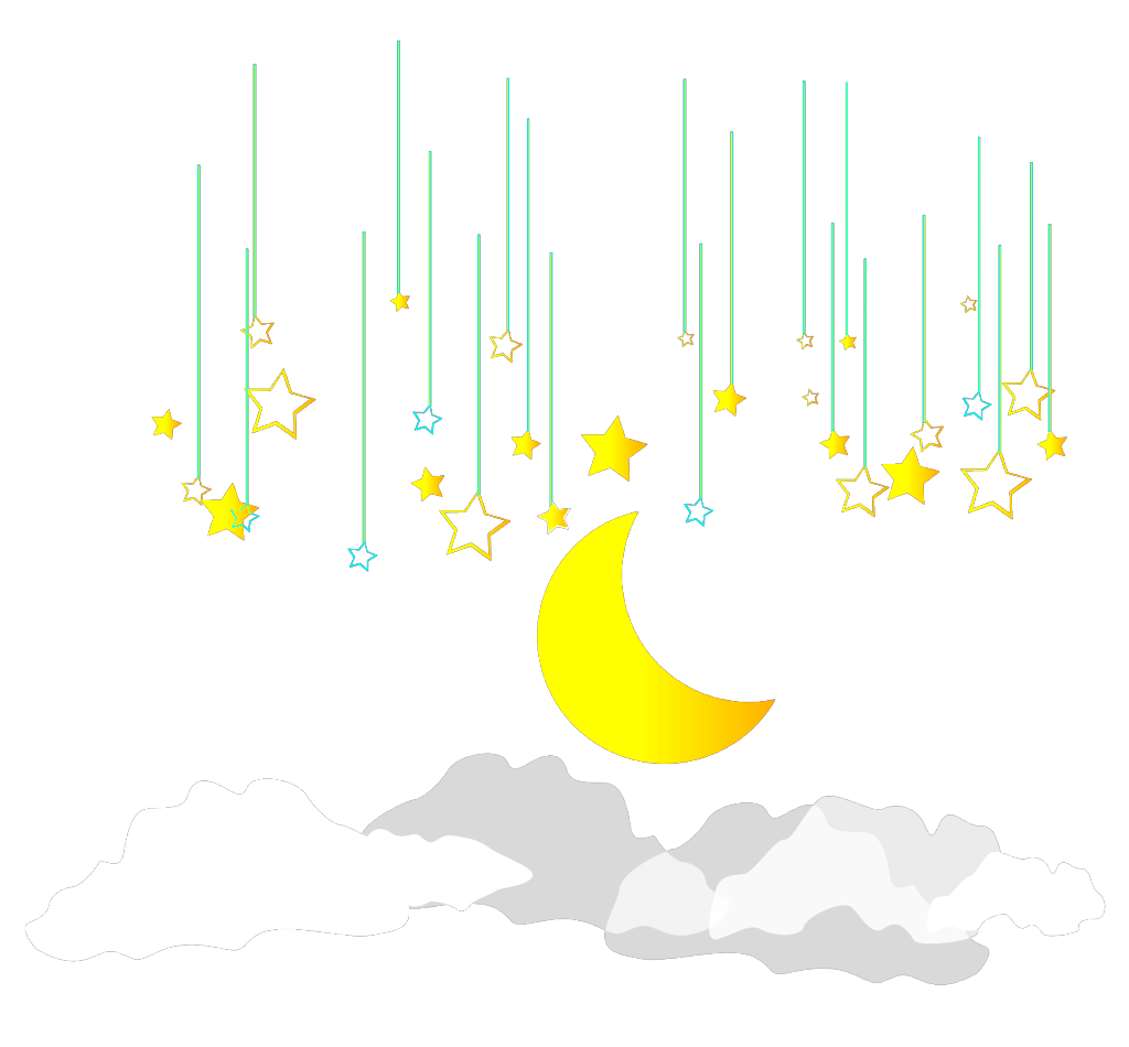 #ftestickers #clipart #sky #moon #stars #colorful