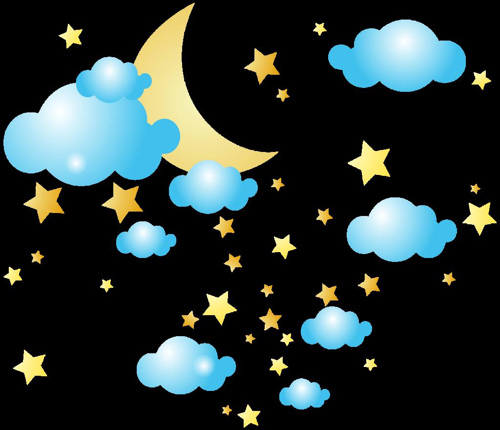#ftestickers #cartoon #sky #clouds #moon #stars #cute