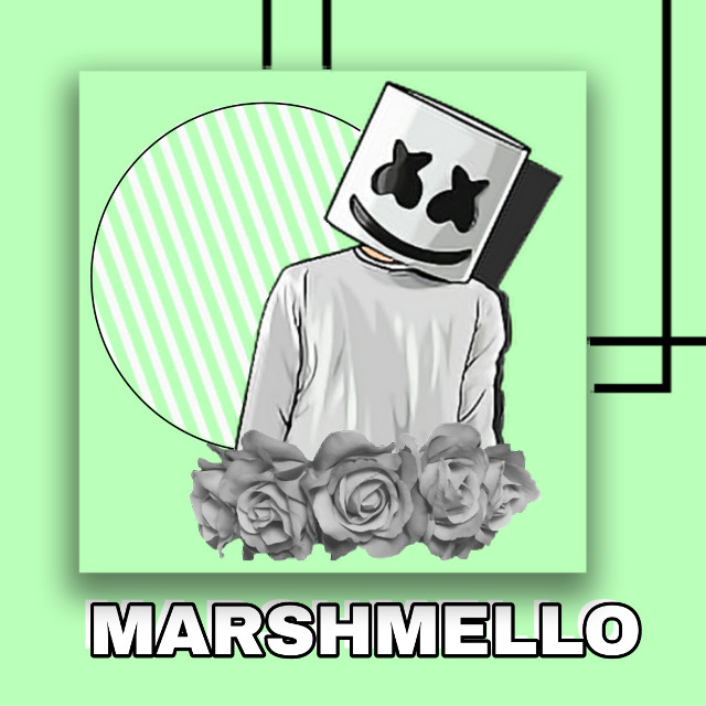 Tell me if you like this and want more #freetoedit #marshmello #myedit #firsttime #tryingthisout