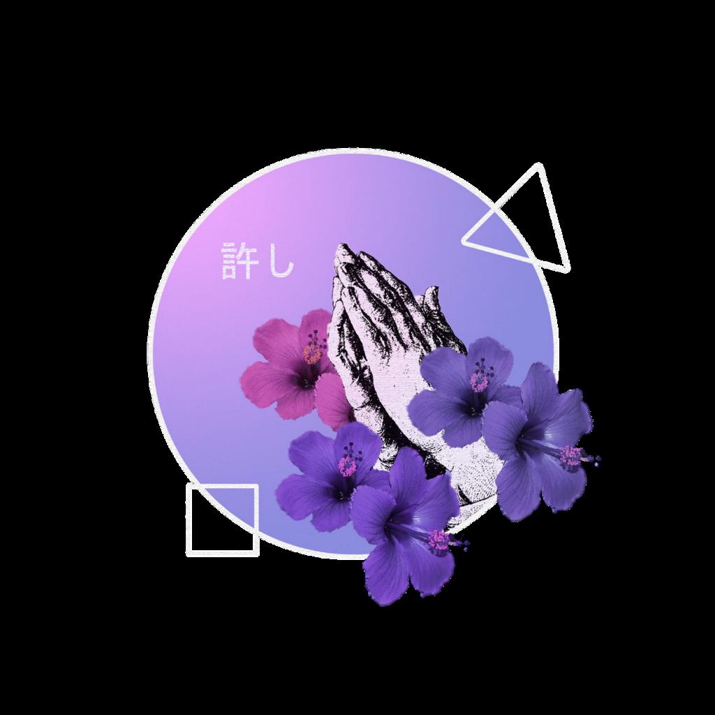 Purple Flowers Circle Aesthetic Purpleaesthetic Light