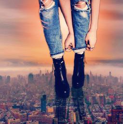 photomanipulation definitelydenim cutouttool cityscape nyc