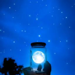moon fullmoon inmyhand jar goodnight
