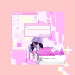 freetoedit pink cute computer glitch