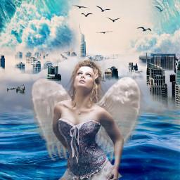 mujerangel azul💙 freetoedit ircmodernity modernity