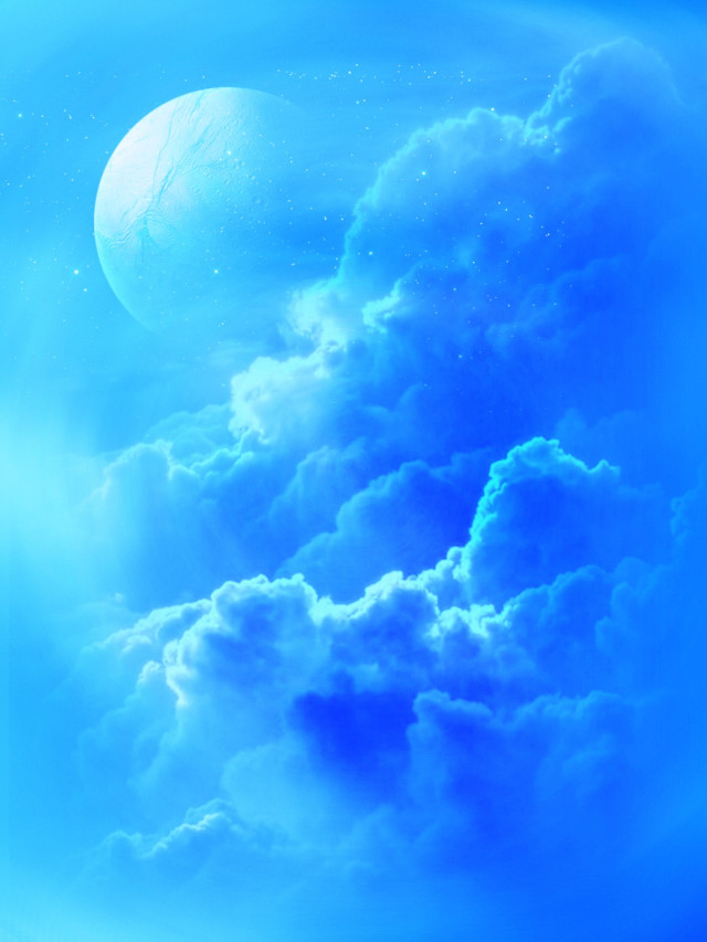 #freetoedit @pa #sky #blue #clouds #moon #myedit #madewithpicsart