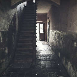 oldhouse hdr dark poland stairs