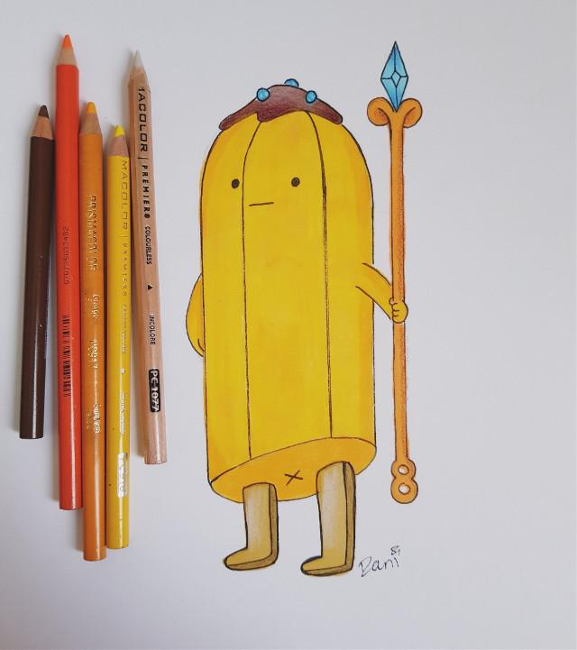 Day 13: #guarded #bananaguard #adventuretime #cartoonnetwork   #freetoedit #tradionalart #inktober #inktober2018 #drawing #art #copicmarkers #prismacolorpencils #pencildrawing