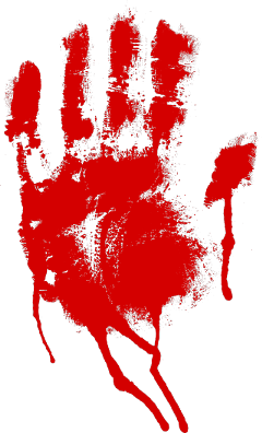 ftestickers halloween blood handprint freetoedit
