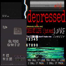 glitch freetoedit depression vhstapes depressed