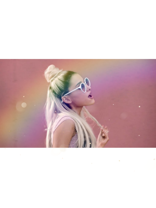 Follow--> @auriellaa is so cool!❤️✨ #freetoedit #girl #tumblr #arianagrande #sing #day #hair #glasses #cool#colors #arcoiris #artista #musica #urban #pink