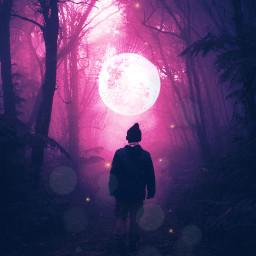 freetoedit ircintothehauntedforest woods moon magic