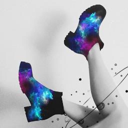 freetoedit galaxyboots boots galaxy remixme