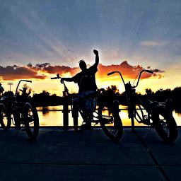 nuttinbutluvfamila freetoedit colorfulsunset bikes sunset pccolorfulsunsets
