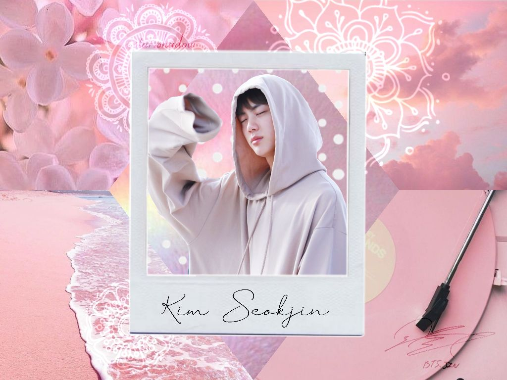 Pink Wallpaper Jin Cute