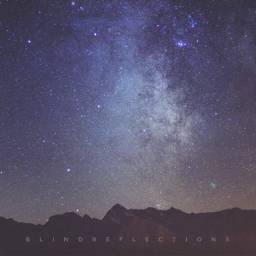 mountainscape nightscape night stars milkyway