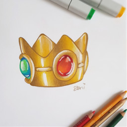 expensive here's mario crown gold inktober freetoedit