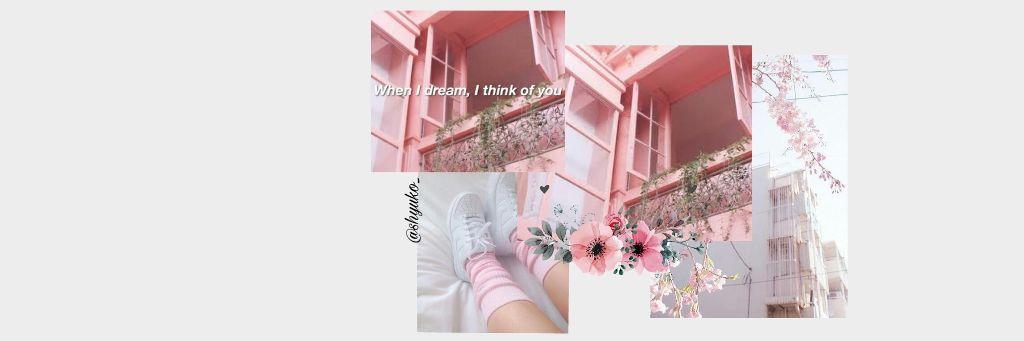 Pink White Aestetic Tumblr Header Twitter Twitterheader