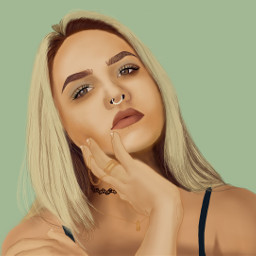 freetoedit dccolorfulhair colorfulhair girl draw