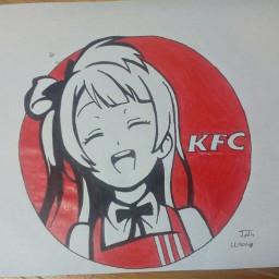 kfc kawaii waifu freetoedit