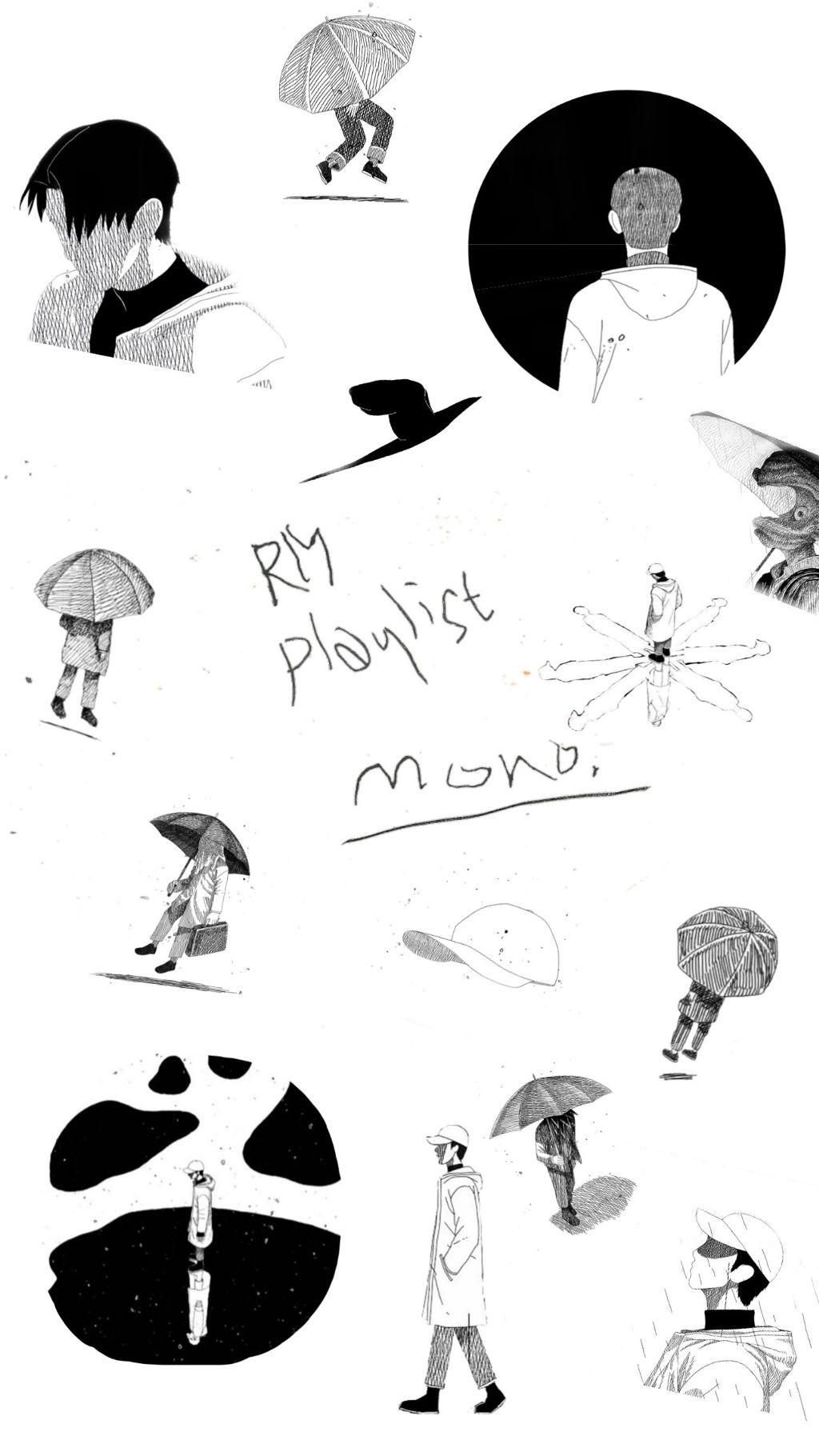Freetoedit Wallpaper Screenlock Bts Rm Mono Kpop