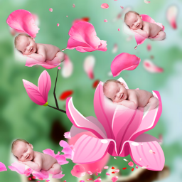 freetoedit fantasyart flowers floatingflowers rosepetals
