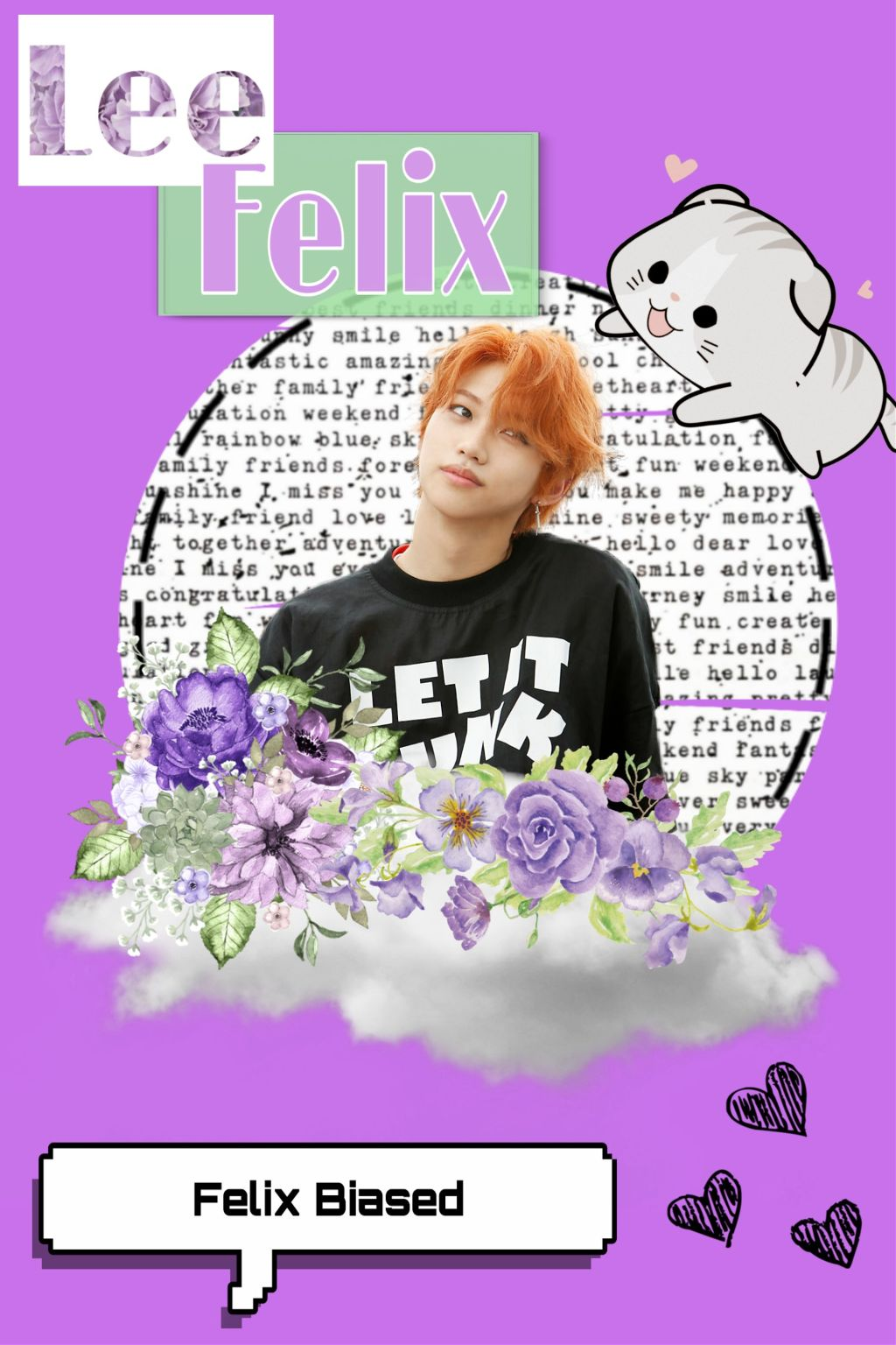 Freetoedit Lee Felix Straykids Kpop Wallpaper Purple