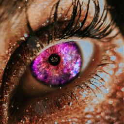 freetoedit eye eyes crown galaxy