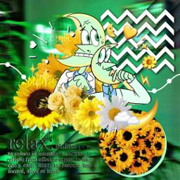 rightnowkapow moon green yellow cute freetoedit