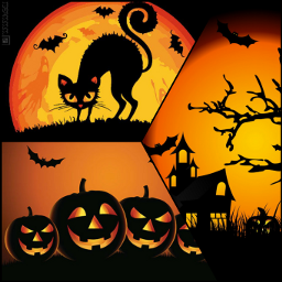 orange black happyhalloween halloween cchalloweenmoodboard freetoedit
