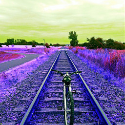 frida backathome colurfull railroadtracks