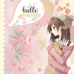 freetoedit autumn november hellonovember animegirl srchellonovember